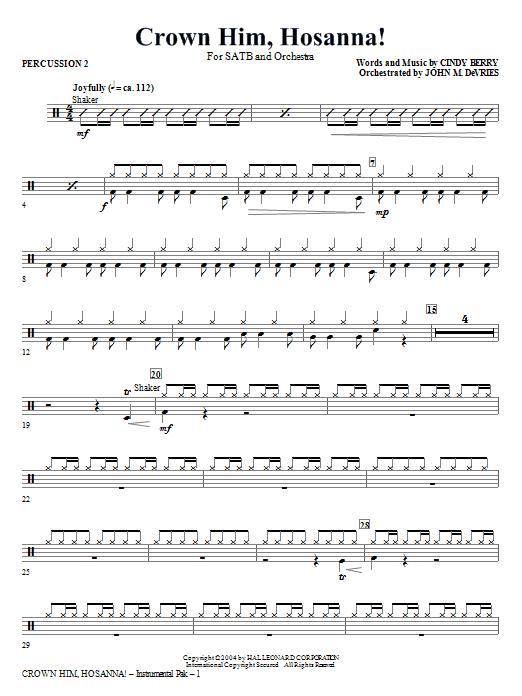 Crown Him Hosanna - Percussion 2 Sheet Music