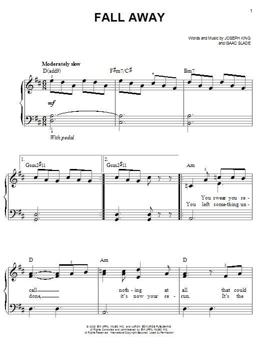 Fall Away (Easy Piano)