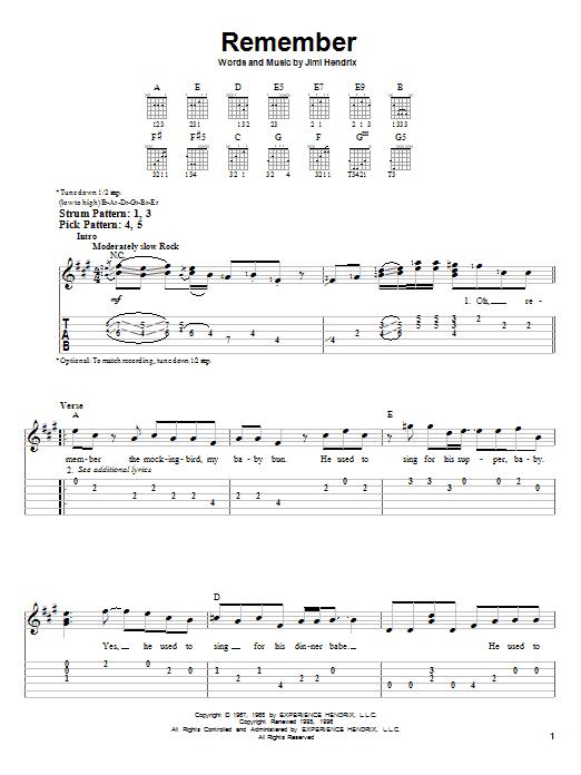 Remember Sheet Music