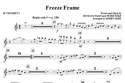 Freeze Frame (complete set of parts) sheet music for orchestra/band (chamber ensemble) by Kirby Shaw, J. Geils Band, Peter Wolf and Seth Justman. Score Image Preview.
