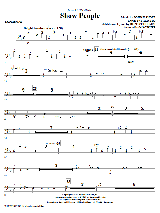 Show People - Trombone Sheet Music