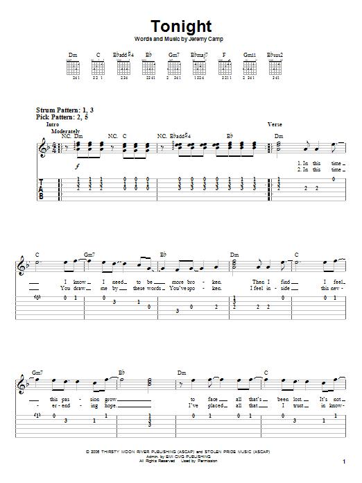 Tonight (Easy Guitar Tab)