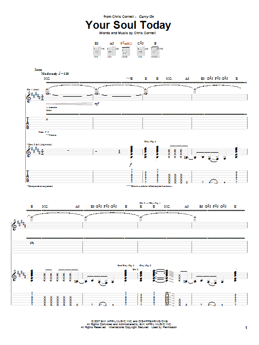 Your Soul Today (Guitar Tab)