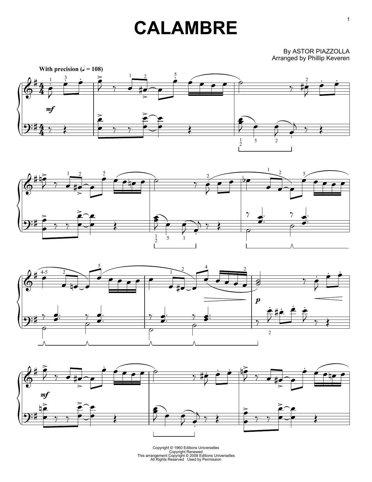 Calambre (Piano Solo)
