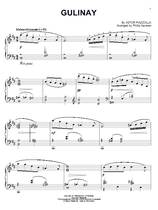 Gulinay Sheet Music