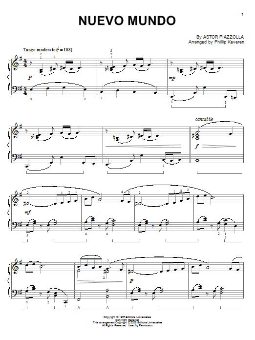 Nuevo Mundo (Piano Solo)