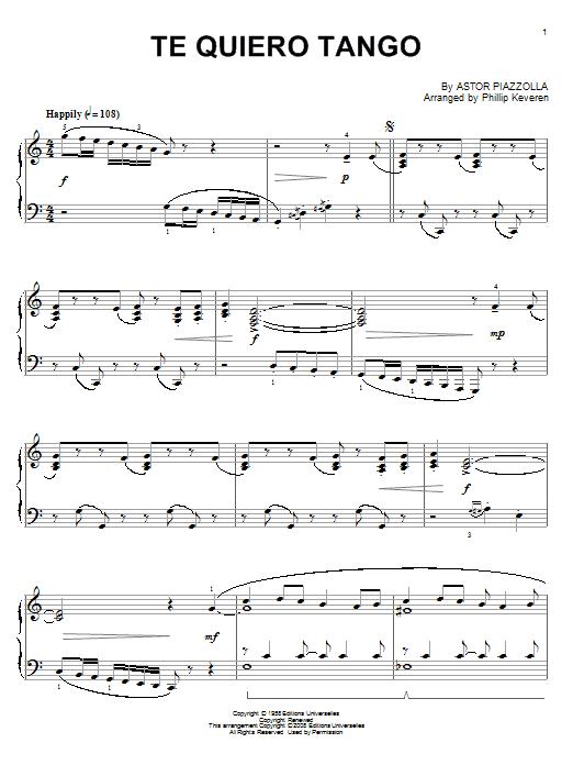 Te quiero tango (Piano Solo)