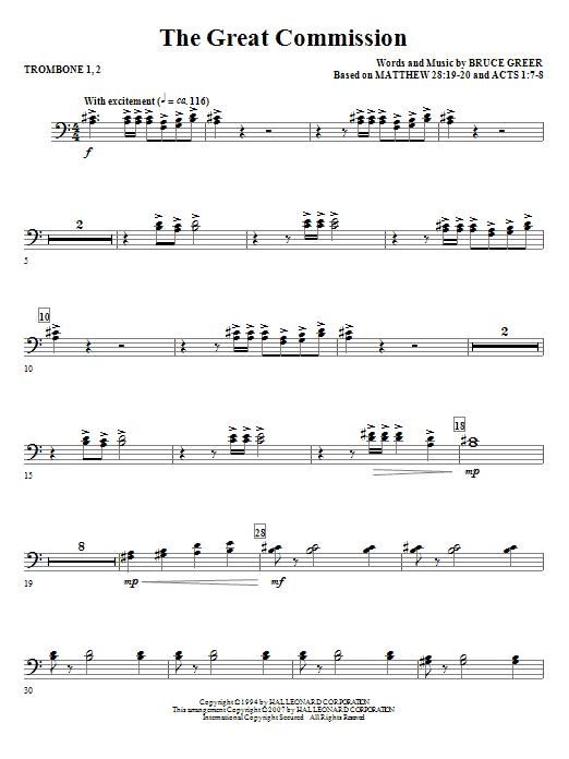The Great Commission - Trombone 1 & 2 (Choir Instrumental Pak)