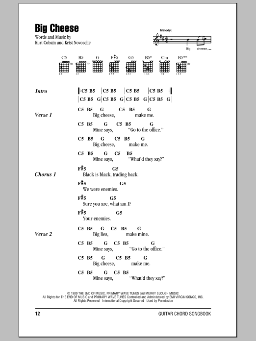 Big Cheese Sheet Music