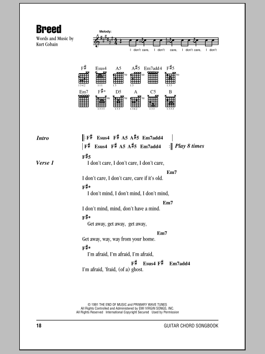 Breed Sheet Music