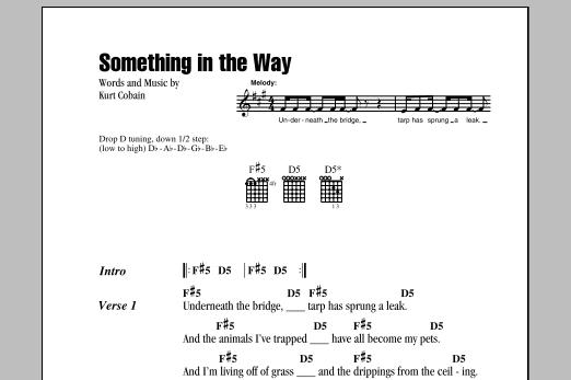 Guitar guitar chords notation : Something In The Way by Nirvana - Guitar Chords/Lyrics - Guitar ...