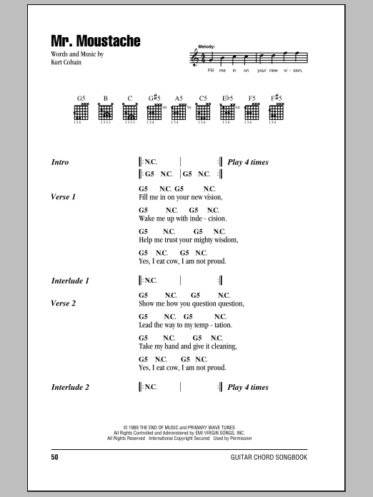 Mr. Moustache Sheet Music