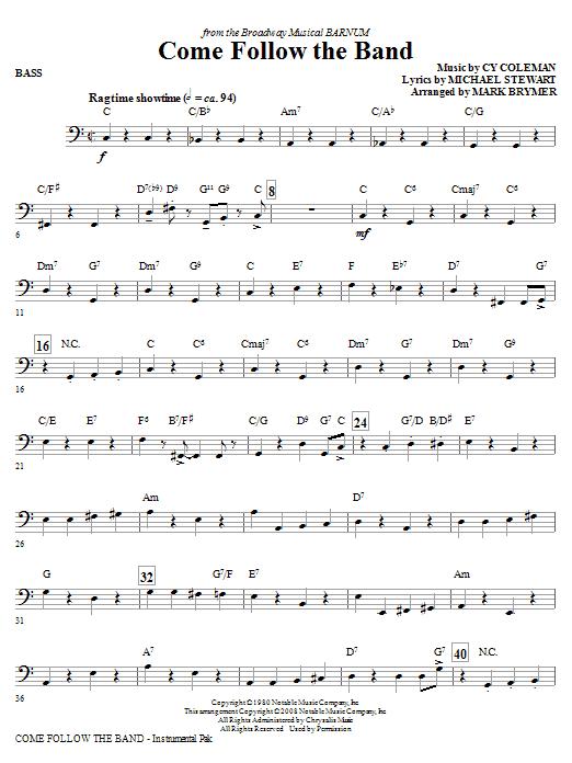 Come Follow The Band - Bass (Choir Instrumental Pak)