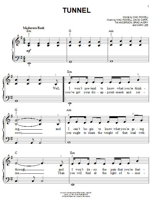 Tunnel (Easy Piano)