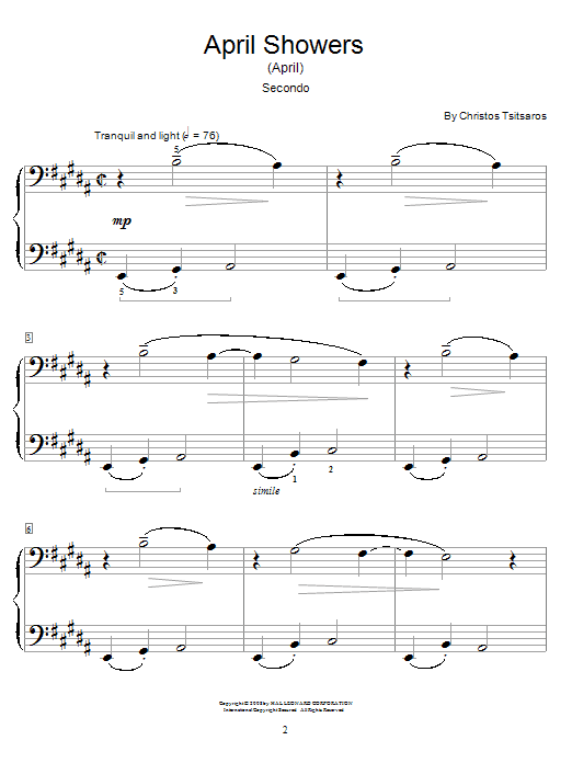 April Showers (April) Sheet Music