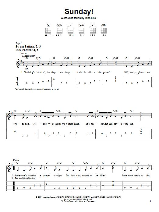 Sunday! (Easy Guitar Tab)