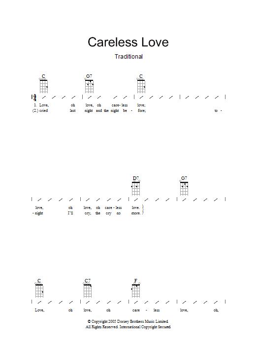 Careless Love (Ukulele Chords/Lyrics)