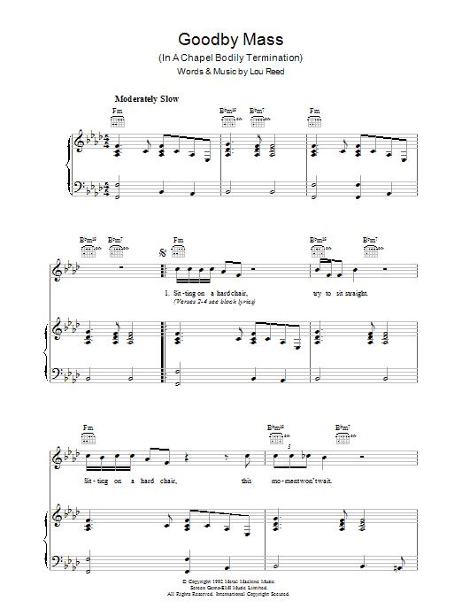 Goodby Mass Sheet Music