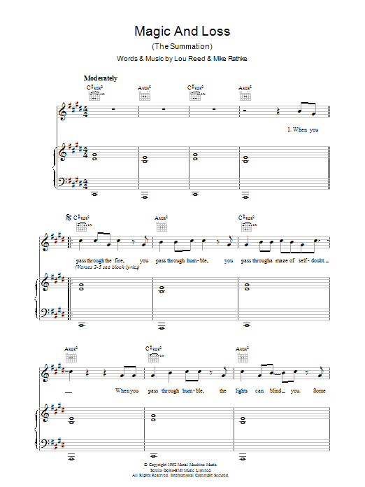 Magic And Loss Sheet Music