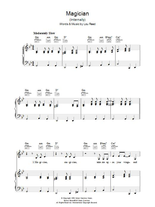 Magician (Piano, Vocal & Guitar)