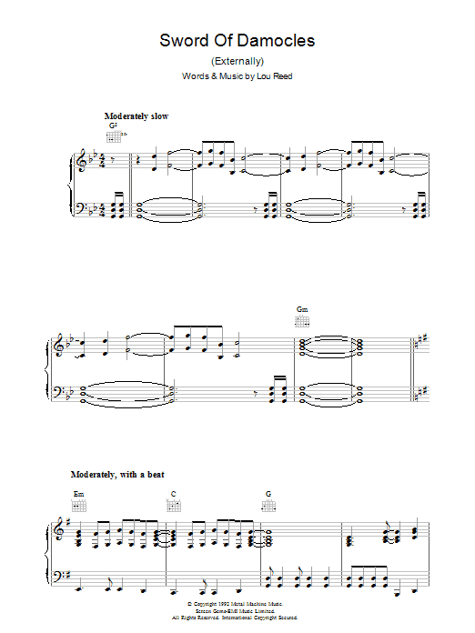 Sword Of Damocles Sheet Music