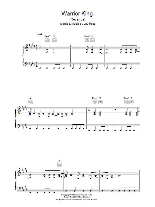 Warrior King (Piano, Vocal & Guitar)