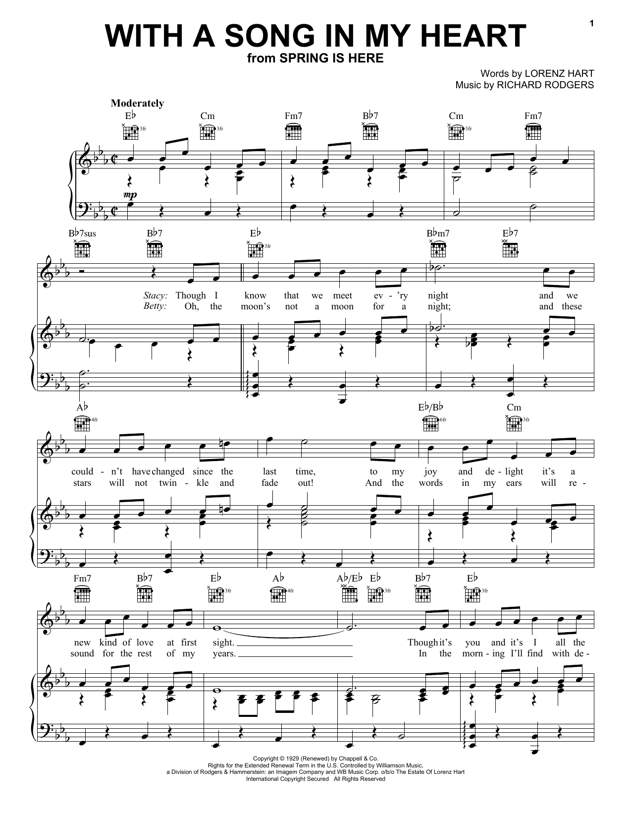 With A Song In My Heart Sheet Music