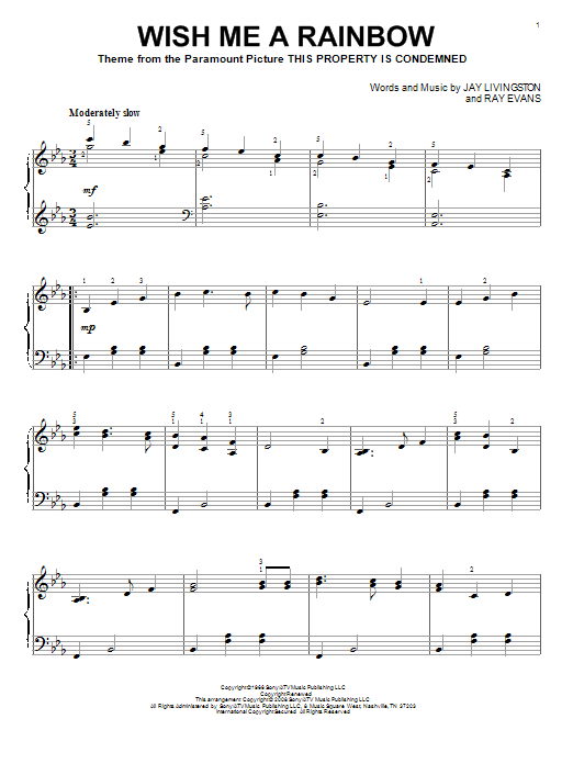 Wish Me A Rainbow Sheet Music