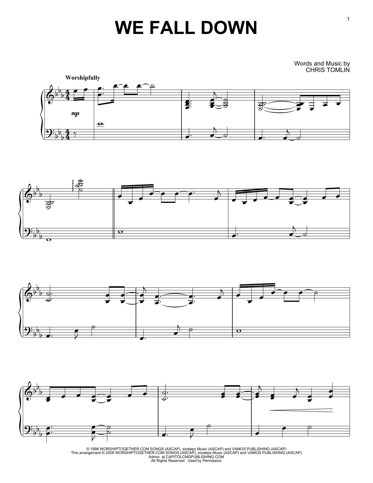We Fall Down (Piano Solo)