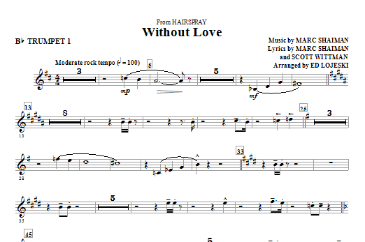 Without Love - Trumpet 1 (Choir Instrumental Pak)