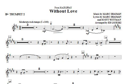 Without Love - Trumpet 2 (Choir Instrumental Pak)