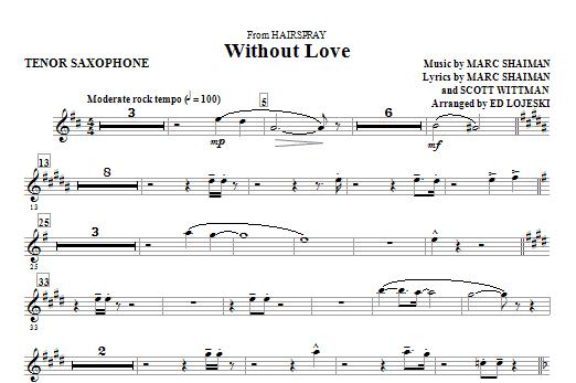 Without Love - Tenor Sax (Choir Instrumental Pak)