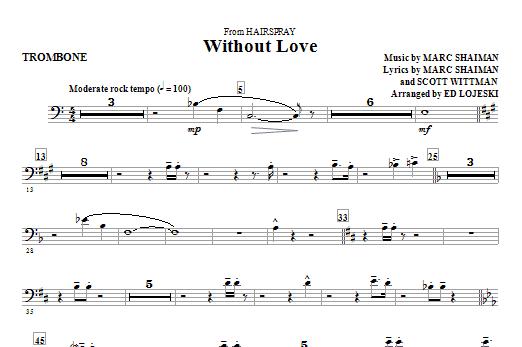 Without Love - Trombone (Choir Instrumental Pak)