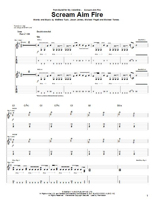 Scream Aim Fire Sheet Music