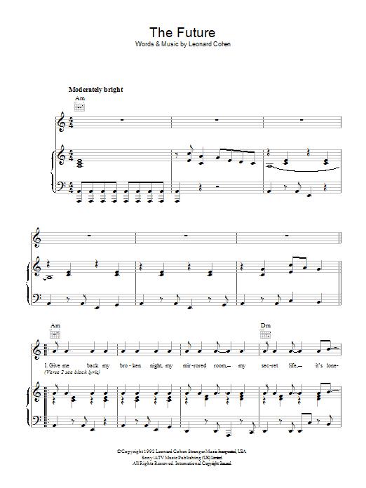 The Future (Piano, Vocal & Guitar)