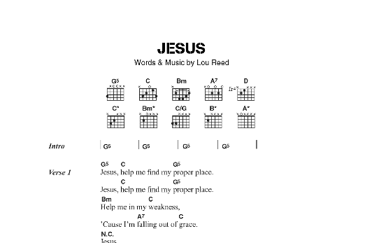 Jesus Sheet Music