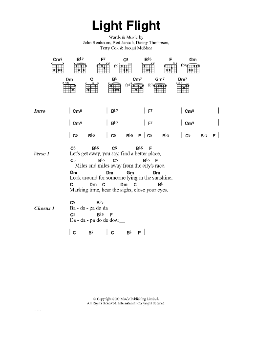 Light Flight Sheet Music