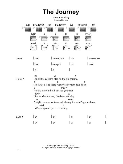 The Journey Sheet Music