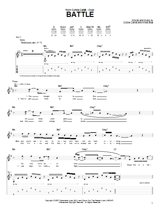 Battle (Guitar Tab)