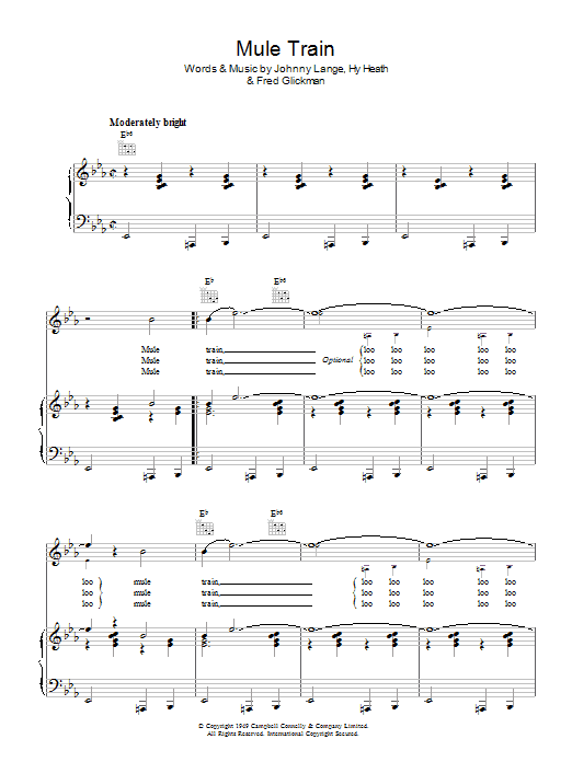 Mule Train Sheet Music