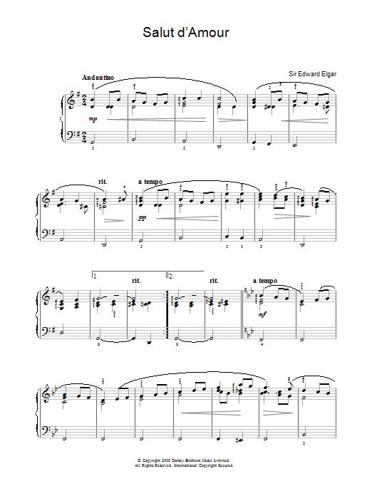 slut damour elgar free sheet music
