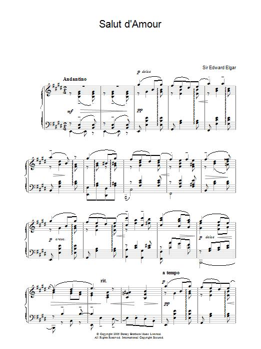 Salut D'Amour (Piano Solo)