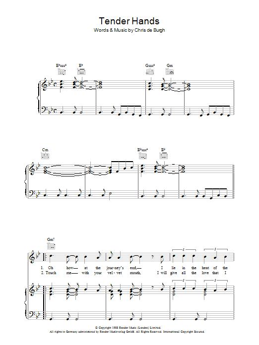 Tender Hands (Piano, Vocal & Guitar)