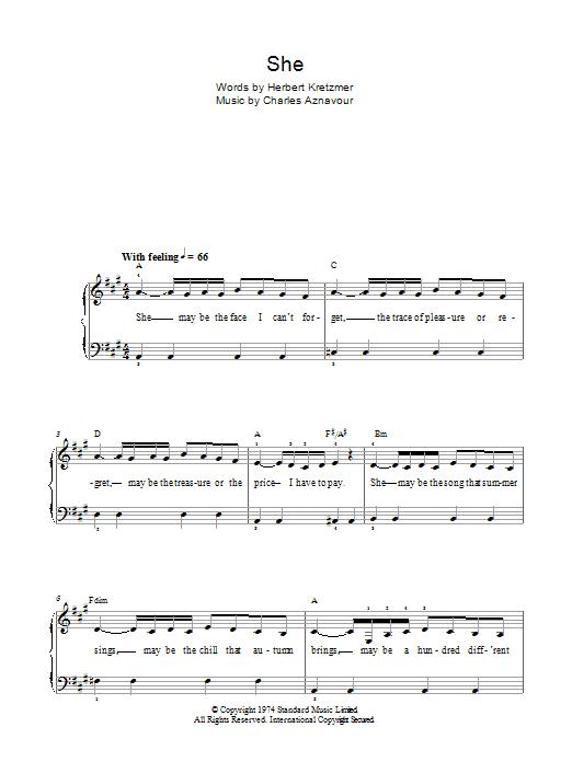 She (Easy Piano)