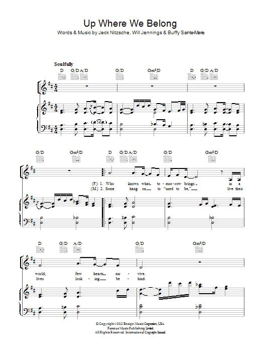 Up Where We Belong (Piano, Vocal & Guitar)