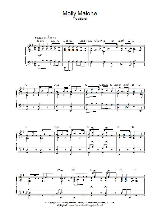 Molly Malone Sheet Music