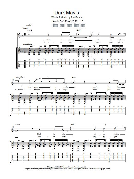 Dark Mavis Sheet Music