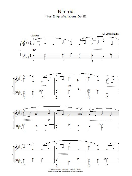 Nimrod (from Enigma Variations Op.36) Sheet Music