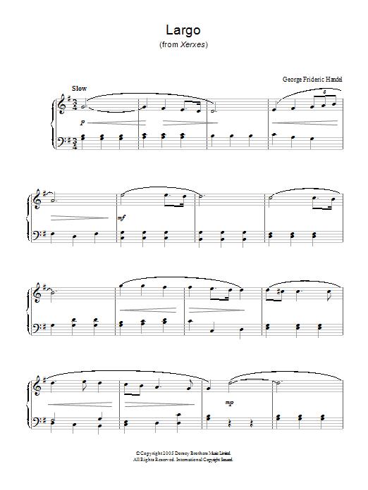 händel largo xerxes cello