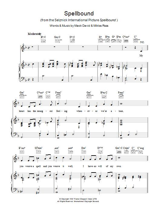 Spellbound (Piano, Vocal & Guitar)